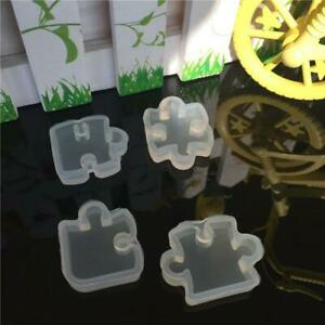 Puzzle Gemstone Crystal Mold Silicone Mould DIY Jewelry Pendant Making L2C3