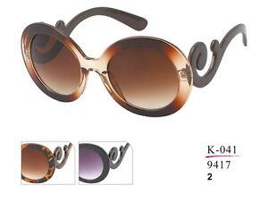 Stylische moderne Sonnenbrille runde Gläser Hingucker für Damen sunglasses k16uL6