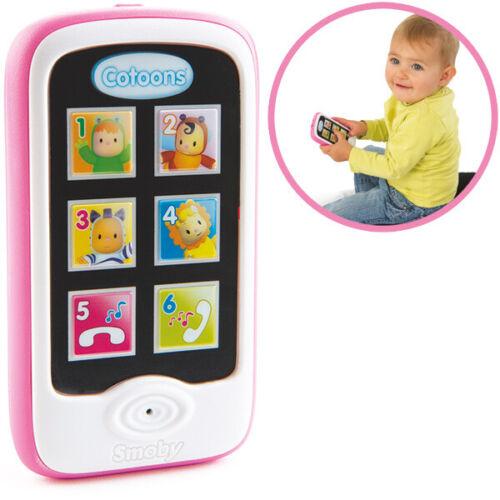 Smoby Cotoons Mein erstes Smartphone mit Aufnahmefunktion Telefon Baby Spielzeug