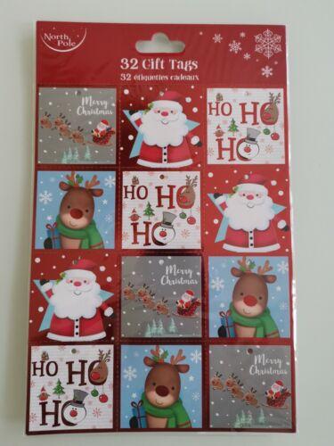 PACK OF 32 GIFT TAGS FOR CHRISTMAS NEW DESIGN FOR 2020 Ho Ho Ho