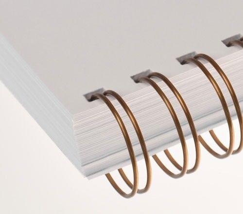 =DIN A4 RENZ Draht-Bindeelemente Ø 25,4 mm 23 Schlaufen bronze 2:1 Teilung