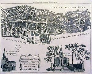Antique-map-Bishopsgate-Ward-Within-and-Without-according-to-a-new-survey