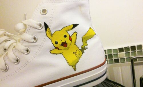 Pikachu pedido hechos Entrenadores Todos para Coocu a los Converse Pokémon por personalizados niños tamaños qw4PwIUT
