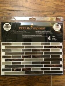 Peel And Impress - Easy Diy Peel And Stick Adhesive Backsplash Tiles, 24088