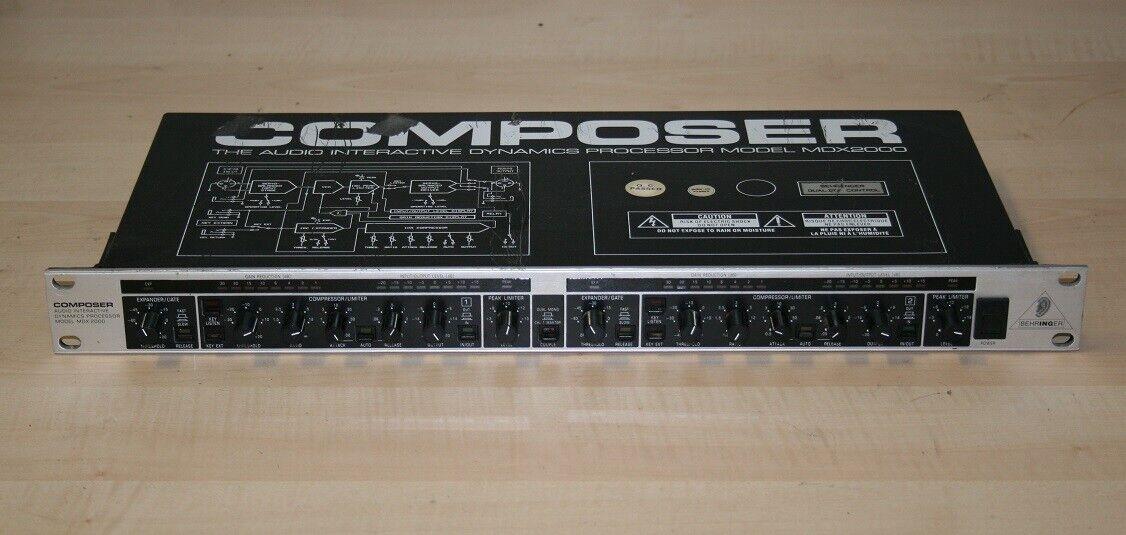 Behringer Composer MDX 2000 2 Kanal Interactive Dynamics Prozessor gebraucht