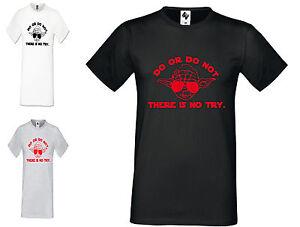 DéVoué Mens Designer Faire Ou Ne Pas Yoga Yoda Fashion à Encolure Ras-du-cou à Manches Courtes T Shirt-afficher Le Titre D'origine