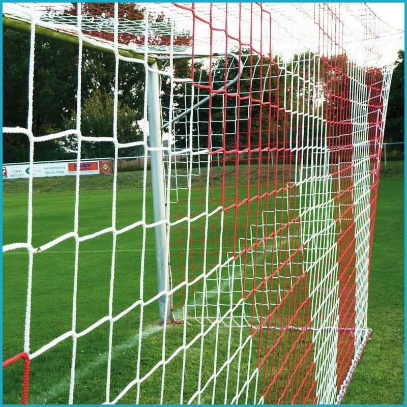 Jugend Fußballtornetz Tornetz Fußballnetz 5 x 2 m 0 0 0 80   1 50 m 4 mm Rot Weiß 49ba0a
