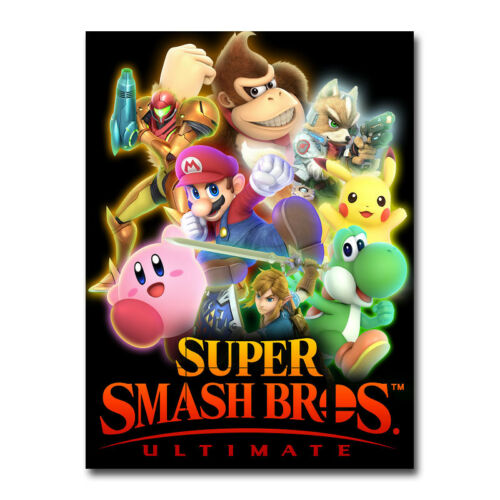 Super Smash Bros Ultimate Game Art Silk Poster Print 13x18 24x32 inch