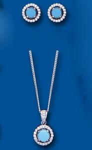 Fine Jewelry Sets Türkis Anhänger Und Ohrringe Satz Massives Sterlingsilber Strahlenkranz Bündel Mild And Mellow Fine Jewelry