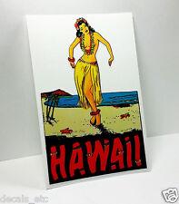 Hawaii Hula Girl Pinup Vintage Style Travel Decal / Vinyl Luggage Sticker