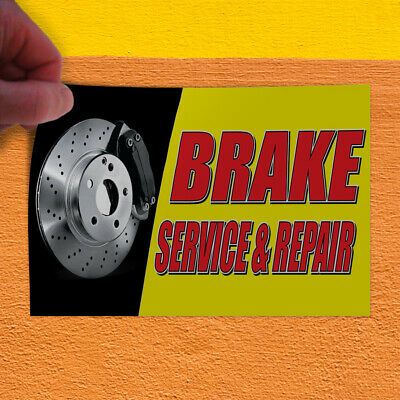 52inx34in Decal Sticker Multiple Sizes Brake Inspection Free #1 Business Brake Inspection Free Outdoor Store Sign Red Set of 2