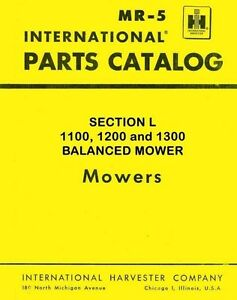 International Farmall 1100 1200 1300 Balanced Mower Parts