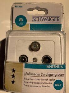 Schwaiger-RDS908531-Antennendose-SAT-TV-UKW-Aufputz-Durchgangsdose