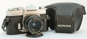 Konica-Autoreflex-T-Camera-Vintage-35mm-with-28mm-Lens-Quarry-Optics-w-Case