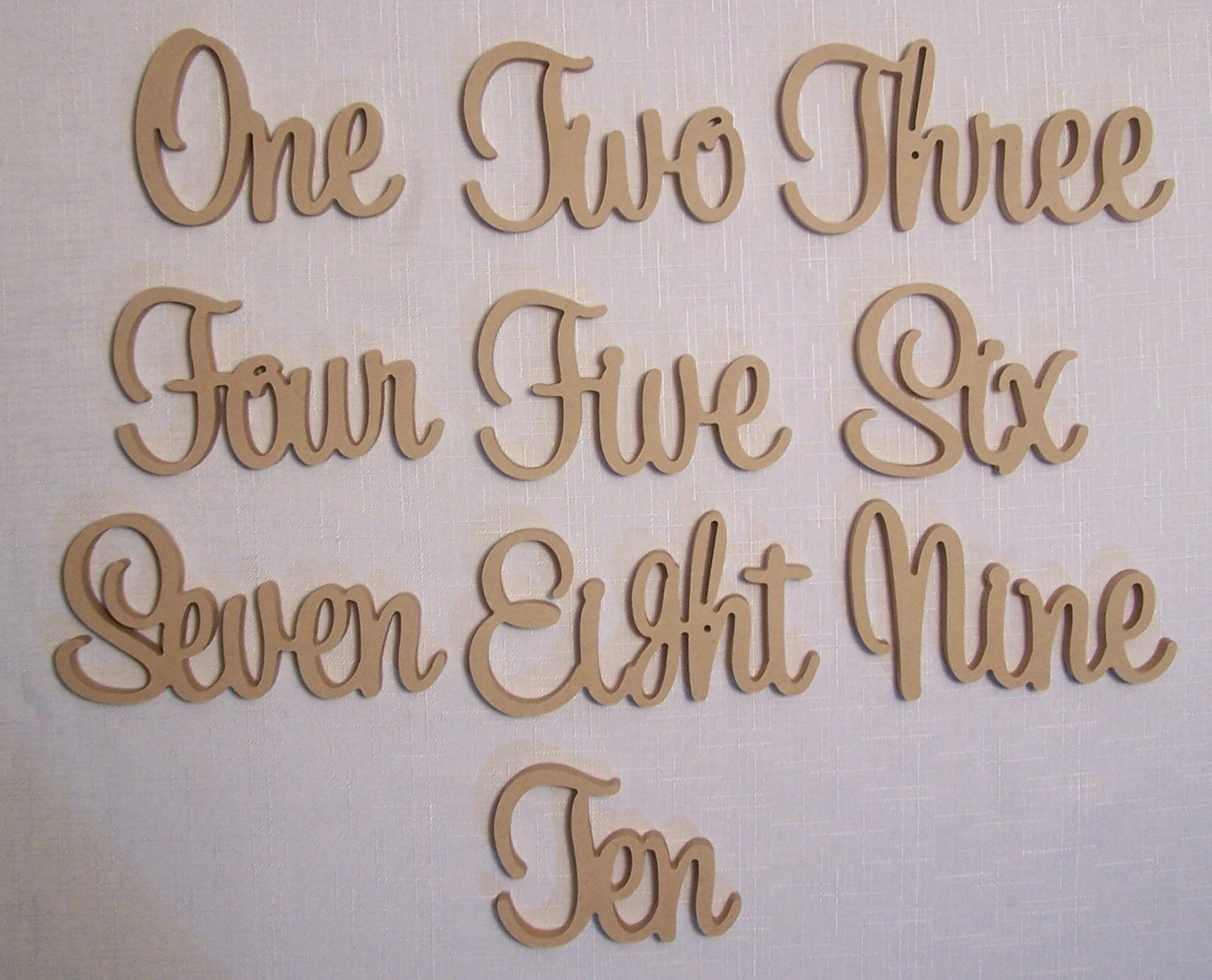 Set of 20 Freestanding wooden table numbers raw events wedding birthday gift