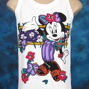 b02b28ec7f025 vtg 90s MINNIE MOUSE HAWAII BEACH TANK TOP T-Shirt XS S mickey ...