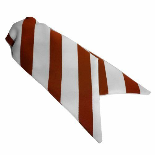 Red and White Ladies Clip On Striped Cravats