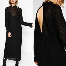 ZARA BLACK LONG VICTORIAN STYLE DRESS SIZE M  REF: 7568/222