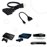 HDMI CABLE DUPLICADOR HDMI SPLITTER LADRON HDMI DOS SALIDAS A TV LONGITUD 30 CM