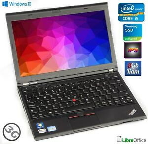 Lenovo-ThinkPad-x230-i5-3320m-128gb-SSD-8gb-ddr3-12-5-034-IPS-webcam-buono-stato