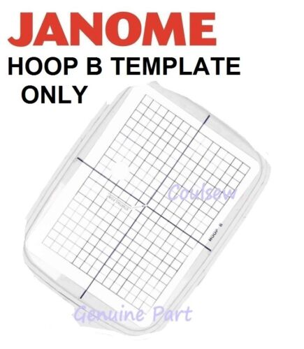 Home & Garden Crafts Janome TEMPLATE Embroidery Hoop B 140mm x ...