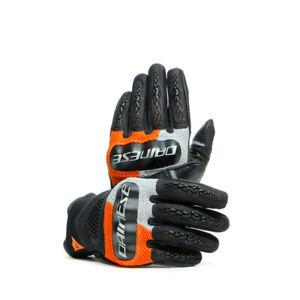 DAINESE-D-Explorer-Sommer-Handschuhe-schwarz-orange-grau-M-8-Knoechelschutz