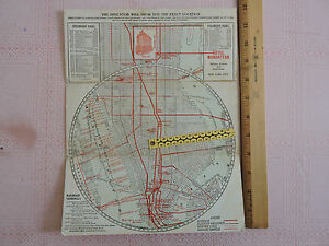 New York City Subway Map Brochure.Details About Rare Ca 1915 Hotel Manhattan New York City Nyc Brochure Subway Map