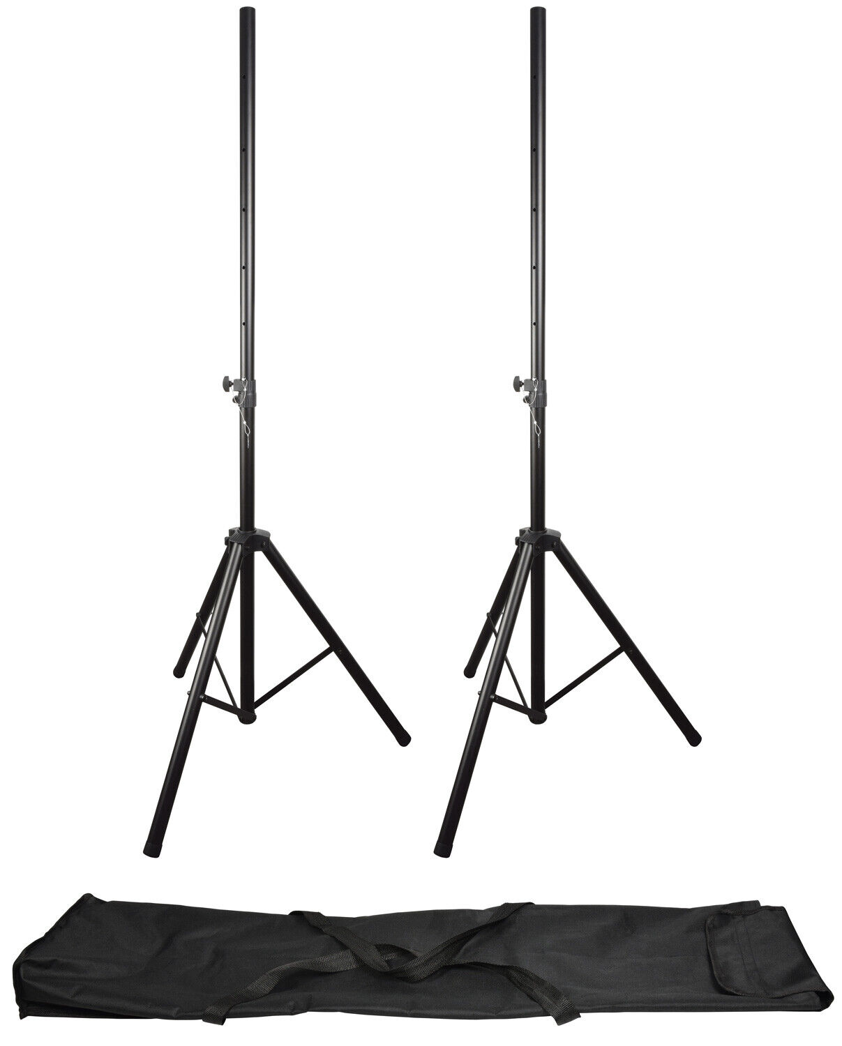 QTX Speaker Stand Kit Pair Of Heavy Duty PA Stands And Bag *B-Stock