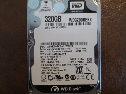 """Western Digital WD3200BEKX-22B7WT0 DCM:HHOTJAK 320gb 2.5/"""" Sata hard drive"""