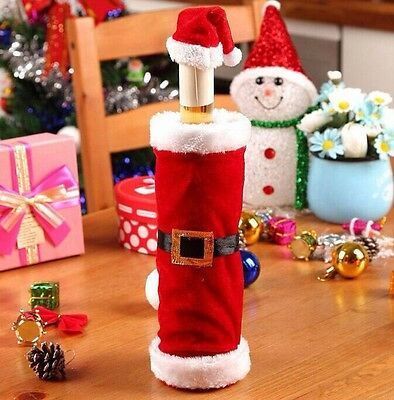 New Merry Christmas Santa Wine Bottle Bag Cover Xmas Dinner Party Table Decor