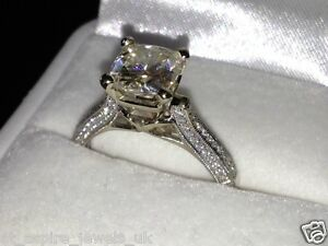 23CT ROUND BRILLIANT CUT SOLITAIRE ENGAGEMENT RING SOLID 14CT