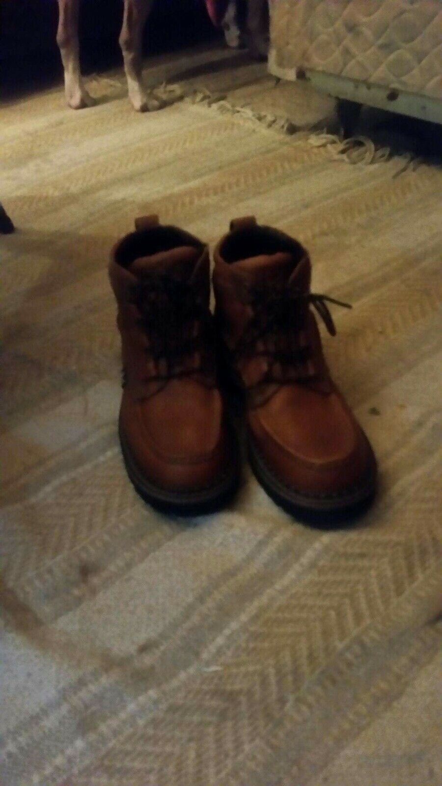 Justin Western Boots Mens Leather Lace Up Caprice golden Brown 988