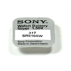 SONY-1-piles-317-SR516SW-SR516-1-55V