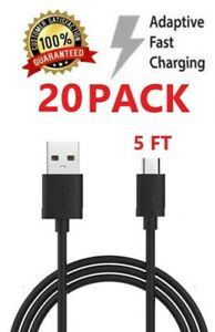 20x-5FT-Micro-USB-Data-Charger-Cable-for-Samsung-Galaxy-J7-J5-J3-S7-edge-Prime