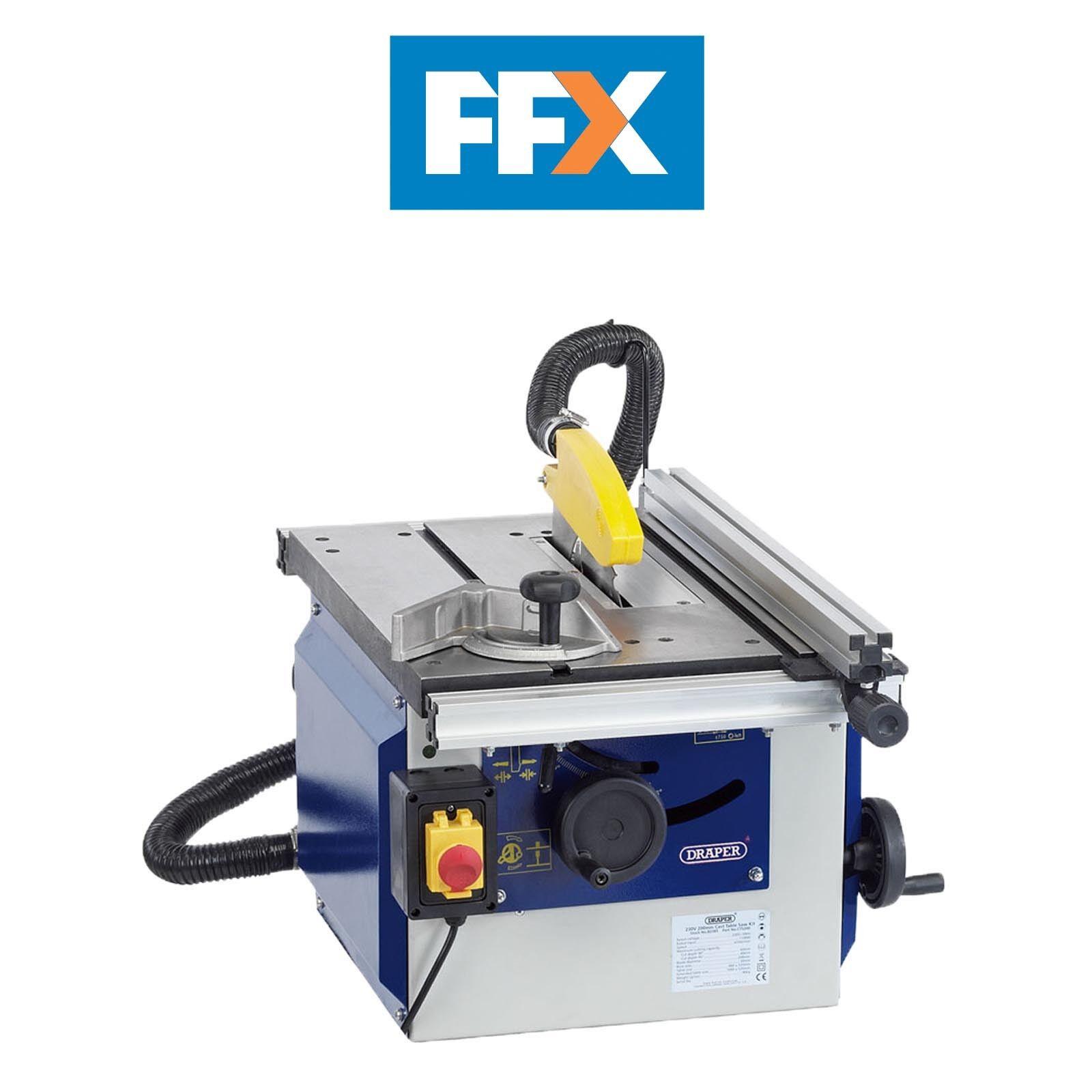 Draper 82108 230v 200mm 4700r/min Cast Iron Table Saw 1100W