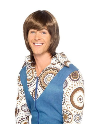 70s Heartthrob Wig, Brown COST-ACC NEW