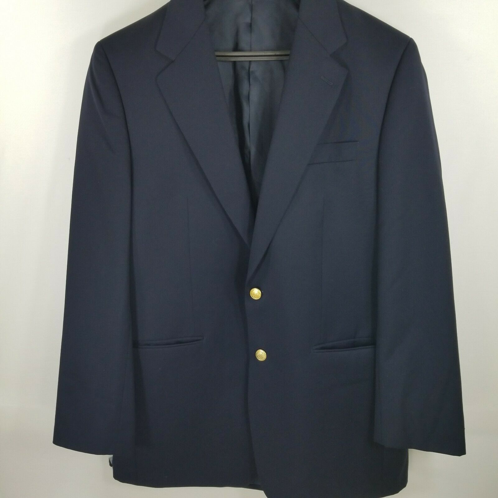 Lauren Ralph Lauren Dark navy bluee blazer 40L Wool Mark 2 golden buttons 1 Vent