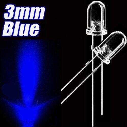 500pcs F3 3mm Blue Round Superbright LED Light LED lamp NEW L8