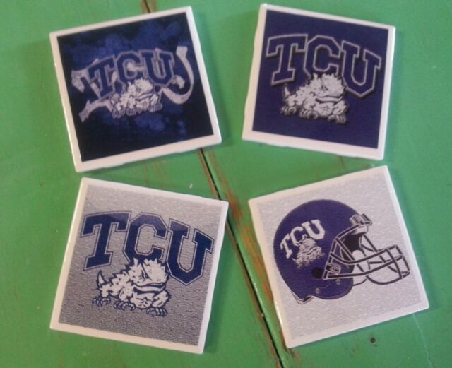 TCU Hornfrogs ceramic coasters (set of 4)