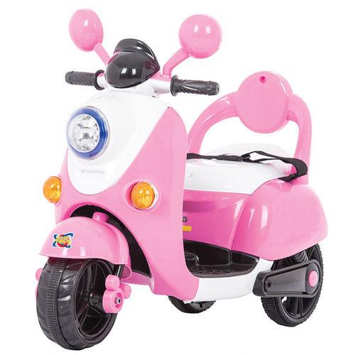 Scooter elettrico pink bambine con tre ruote vespa moto elettrica bimba 6 volt