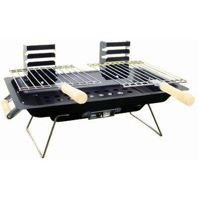 Portable Steel Hibachi BBQ Grill for Gardens/Picnics/Beach/Camping/Caravanning