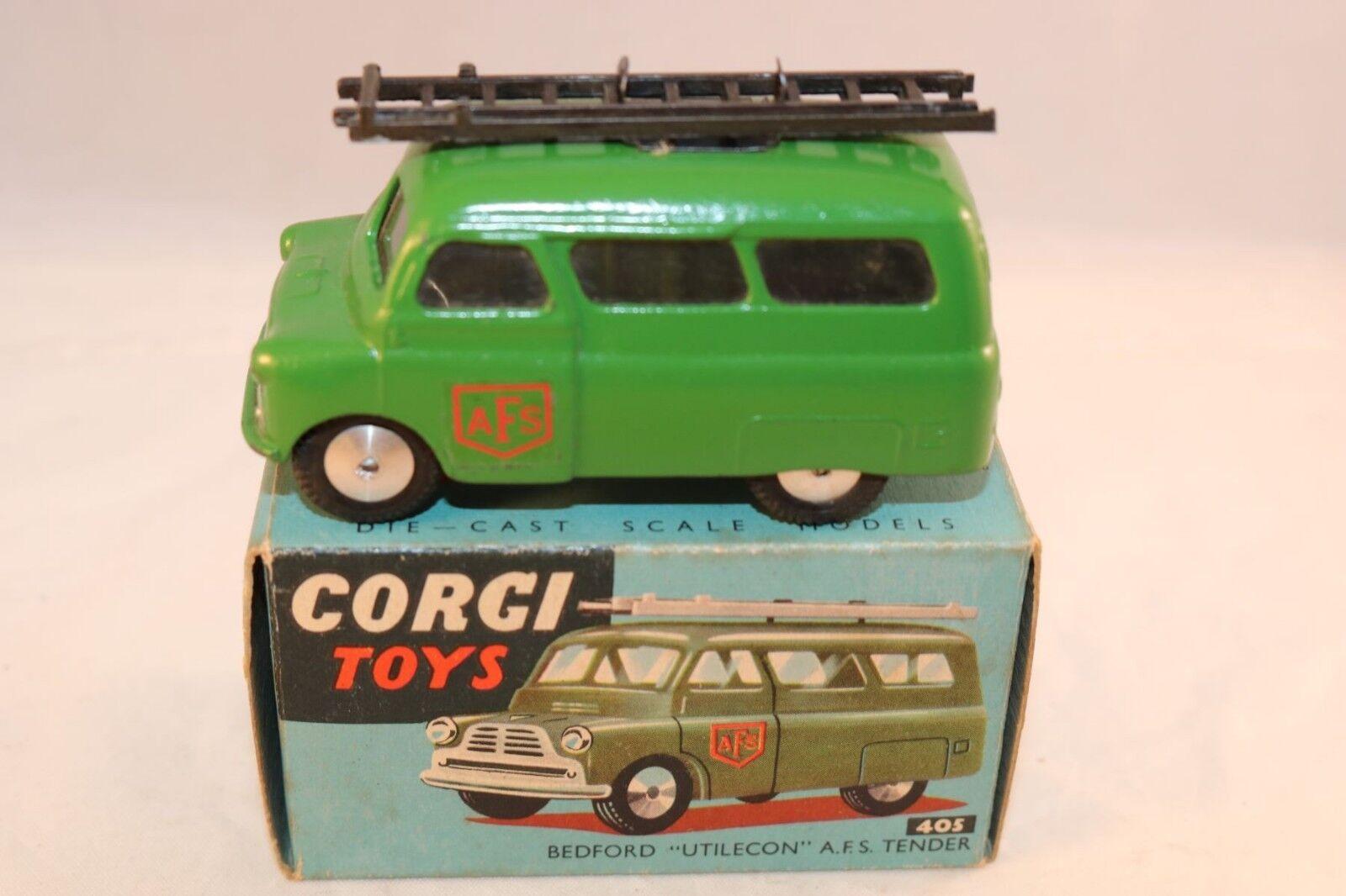 Corgi Toys 405 Bedford  Utilecon A.F.S. Tender very near mint in box