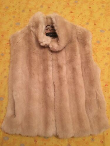 Tag Donna Smanicato 42 L'altra Moda Size Pelliccia Gilet PWCZ5X5qI