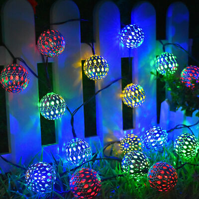 Uk Led Moroccan Solar Garden String, Moroccan Outdoor Lamps Uk