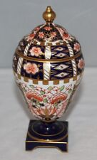 "Royal Crown Derby - Imari 6299 - 7"" lidded urn - 1922 - repairs"