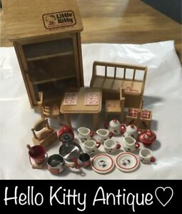 Sanrio Hello Kitty Antique 1970s miniature furniture from japan Used EMS