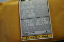 Woodland Scenics decals HO Dry Trf DT606 Rock Island box cars does 2 cars  D48