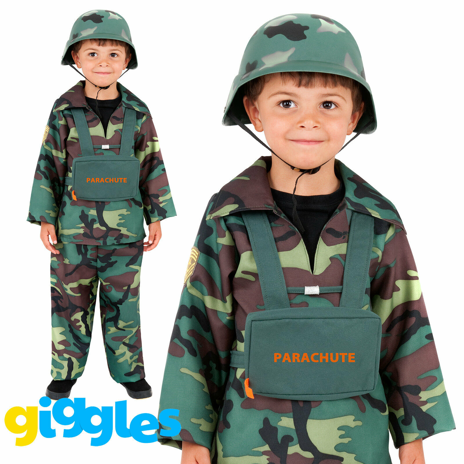 7-9 Years Henbrandt Child Army Military Camouflage Fancy Dress Costume