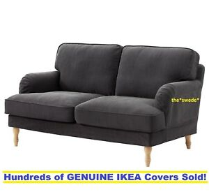 Details about Ikea STOCKSUND Loveseat (2 Seat Sofa) Cover Slipcover NOLHAGA  DARK GRAY Sealed!
