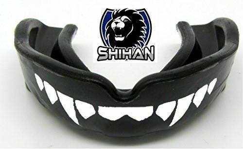 JUNIOR Mouth Guard Boil Bite Boxing Martial Arts Gum Shield BLACK FANGS SHIHAN